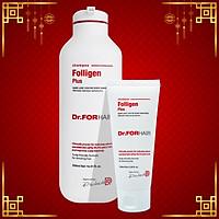 Dầu gội giảm rụng tóc Dr.FORHAIR phục hồi hư tổn nang chân tóc và kích thích mọc tóc - Combo 1 Chai 500ml, 1 Tuýp 100ml Dr FOR HAIR Folligen Plus Shampoo