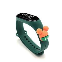 Đồng hồ trẻ em Silicon nhiều màu, đồng hồ điện tử thông minh cho bé E132 - MÀU XANH