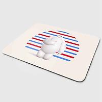 Miếng lót chuột mẫu Baymax Nền Xanh Đỏ (20x24 cm) - Hàng Chính Hãng