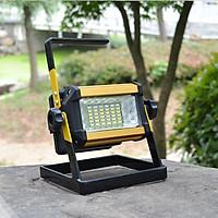 Đèn Led công suất 50W siêu sáng sạc điện Model W807 ( Tặng kèm 01 miếng thép đa năng để ví )