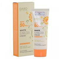 Kem chống nắng lót nền trang điểm trắng mịn bật tone Dabo White Sunblock Cream SPF 50 PA+++ Hàn quốc (70ml)- Hàng Chính Hãng