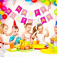 Dây Trang Trí Sinh Nhật Chữ Happy Birthday Thiết Kế Lá Cờ