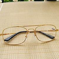 kính lão thị gọng titan dẻo tròng kính thủy tinh dành cho nam tặng hộp đựng và khăn lau kính