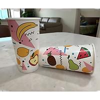 30 chiếc cốc giấy hình hoa quả dùng 1 lần 22OZ (650ml)