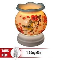 Đèn Xông Tinh Dầu Gốm MNB11 + Tặng Kèm 1 Bóng Đèn