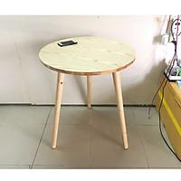 Bàn trà, bàn ăn tròn cao su 60x72, bàn cafe phòng khách, bàn coffee, bàn gỗ cà phê