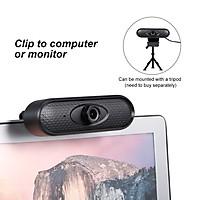 Máy Ảnh Web Không Ổ Đĩa HD 1080p Tiêu Điểm USB Với Camera Tích Hợp Micrô Cho PC Máy Tính Xách Tay, Màu Đen