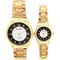 Cặp đồng hồ Nam Nữ Halei - HL4890 Dây vàng