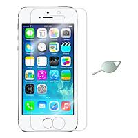 Bộ Kính Cường Lực Dẻo Nano Cho iPhone 5/ 5S/ 5SE (Trong Suốt) Và Cây Lấy Sim Hình Giọt Nước - Hàng Chính Hãng