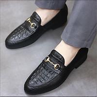 Giày Da nam xả kho giá gốc -giày lười da nam- giày lười nam mã l180