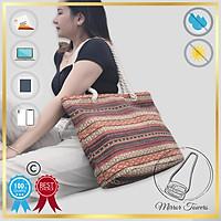 Túi xách vải bố canvas, thiết kế thời trang in hình họa tiết, đựng được giấy tờ A4 (Nhiều mẫu mã để lựa)