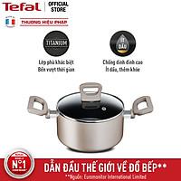 [Gift] Nồi chống dính đáy từ Tefal Sensation H9104414 20cm (Đồng) - Công nghệ Thermor-spot cảnh báo nhiệt - Hàng chính hãng