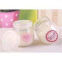 COMBO 12 Hũ Thuỷ Tinh Làm Sữa Chua 100ml nắp nhựa Dáng Mập