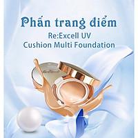 Combo 4 hộp phấn nước Hàn Quốc Re:Excell UV Cushion Multi Foundation SPF50+/PA+++ (mỗi hộp tặng kèm 1 lõi)