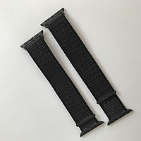 Dây đeo Sport loop cho Apple Watch màu đen series 1.2.3.4
