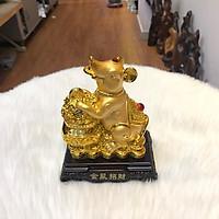 Tượng Chuột Phong Thủy Nguyên Bảo Mạ Vàng