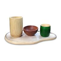 Khay gỗ tần bì trang trí, đựng đồ ăn, cốc, chén
