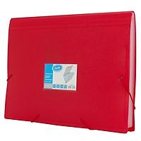 Cặp Tài Liệu Bantex A4 12 Ngăn 3600 09 - Màu Đỏ