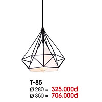 Đèn thả kim cương vải trắng tặng bóng LED 7W tiết kiệm điện