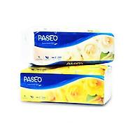 Combo 2 gói khăn giấy thếp Paseo 2 lớp ( 220 tờ / gói ) - màu ngẫu nhiên