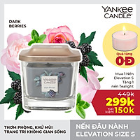 Nến ly vuông Elevation Yankee Candle size S - Dark Berries (96g)