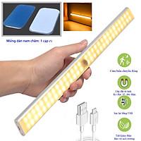 Đèn cảm biến chuyển động gắn cầu thang, toilet, tủ đồ, giưởng ngủ, tự động bật/tắt ánh sáng ban đêm, điều chỉnh độ sáng tối, sạc bằng USB