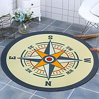 Thảm tròn DTP in hình la bàn Carmi (100 x 100 cm)