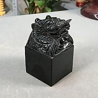Ấn Rồng phong thủy đen đá tự nhiên - Roxi