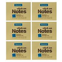 Lốc 6 Xấp Giấy Note Beautone (76.2 x 101.6 mm) - Vàng