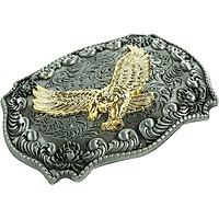 Antique Golden Soaring Embossed Eagle Buckle Western Cowboy Fine Belt Buckle