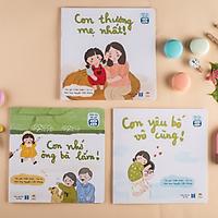 Set 3 Cuốn Sách Thơ Cho Bé Tập Đọc - Bộ Gia Đình Bé Bỏng - Sách Đọc To Cho Trẻ 0-3 4-6 Tuổi