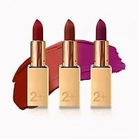 Set 3 Son Lì 2BE Matte Lipstick (Đỏ Lạnh + Cam Đất + Hồng Tím)