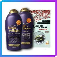 Dầu gội biotin & Collagen và xả 577ml Tặng kèm Hộp Saffron Badiee Nhập Khẩu IRAN