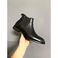Giày nam Chelsea Boots Da Bò Đế Phíp Cao Cấp Streatwear Kiểu Dáng Đường Phố Tặng Kèm Phụ Kiện Boots