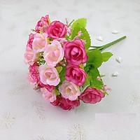 Bó hoa hồng vải trang trí 21 bông