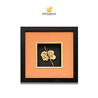 Tranh hoa lan dát vàng (24x24cm) MT Gold Art- Hàng chính hãng, trang trí nhà cửa, phòng làm việc, quà tặng sếp, đối tác, khách hàng, tân gia, khai trương