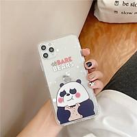 Ốp Lưng Case Iphone Gấu Ba Màu Siêu Trong Không Ngả Màu 7g/8g/7Plus/8Plus/X/Xs/Xsmax/Xr/11/11Pro/11Promax/12/12pr