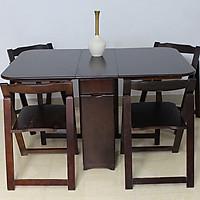 Bộ bàn ăn xếp gọn Mimi ( nâu) OHAHA