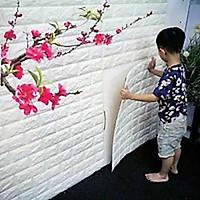 Bộ 20 Miếng Xốp Dán Tường 3D Chịu lực, chống nước, chống ẩm mốc 70x77cm dt 26- trắng