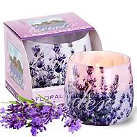 Ly nến thơm tinh dầu Bartek Lavender 100g QT025831 - hoa oải hương (Giao mẫu ngẫu nhiên)