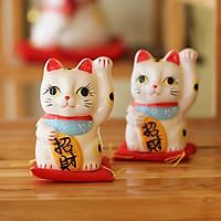 Mèo thần tài Nhật Bản Maneki neko Chiêu Tài 164165 - 10cm (1 con)