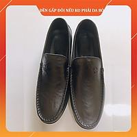 [da thật] Giày lười nam da bò thật mẫu giày da trơn mềm đế cao su khâu chắc chắn lê chân ôm cực kì