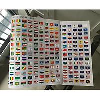 Bộ Quốc Kỳ Các Nước Trên Thế Giới và Cờ 50 Tiểu Bang của Mỹ PASA COLLECTION ( 295 cờ ) , răng cưa, xé dễ dàng - Hàng nhập khẩu
