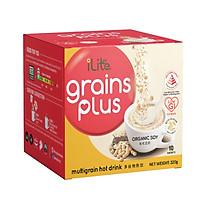 Sữa hạt dinh dưỡng - iLite Grainplus đậu nành organic - GI thấp - ít đường - Chính hãng từ Singapore