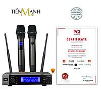 Bộ 2 Micro Không Dây JBL VM200 - Mic Cầm Tay Vocal Microphone Karaoke Wireless Hàng Chính Hãng - Kèm Móng Gẩy DreamMaker