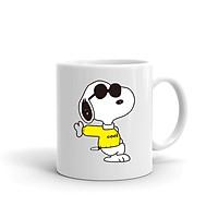 Cốc Sứ Cao Cấp In họa tiết Snoop puppy đeo kính râm