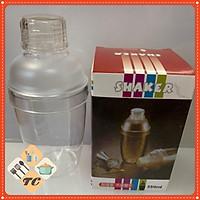 Bình lắc nhựa pha chế shaker trà sữa cocktail cao cấp 530ML