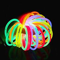 Set 10 que vòng tay phát sáng dạ quang đủ màu sắc rực rỡ vừa làm vòng tay vừa làm đồ chơi sáng tạo cho bé – DC025