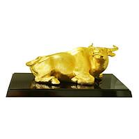 Tượng Trâu Vàng Đại Cát - Mua linh vật Trâu đúc đồng mạ vàng size lớn