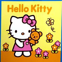Tranh sơn dầu số hóa cho bé tự tô có khung - 20x20cm nhiều mẫu SD4 - SDCB068 Hello kitty hồng